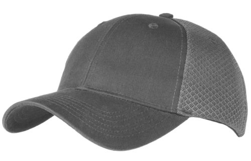C6621 – Sneaker Mesh 6 Panel cap with cotton front panels and Velcro adjuster