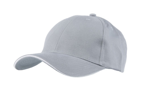 C6707 – 100% Brushed Cotton 6 Panel cap with contrasting Sandwich Trim
