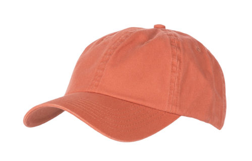 C6711 – Unstructured Washed 100% Cotton Chino 6 Panel cap with buckle adjuster.
