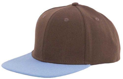 C6715 – Classic 100% Polyester Acrylic Flat Peak Snapback with plastic snap adjuster