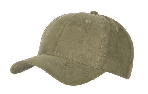C6724 – 100% Polyester Faux Suede 6 Panel Cap with Buckle Adjuster