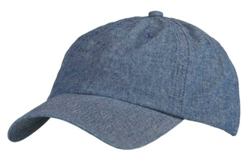 C6726 – 6 Panel Unstructured lightweight Chambray Denim with Buckle adjuster