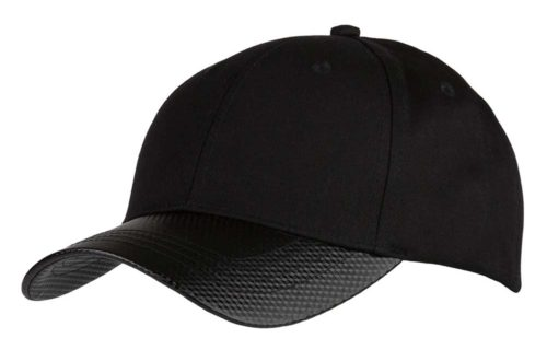 C6730 – Chino Cotton 6 Panel cap with Carbon Effect peak and buckle adjuster