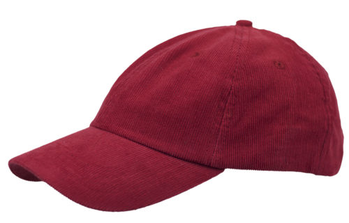 C6736 – Poly/Cotton Cord 6 Panel unstructured cap with metal slide adjuster