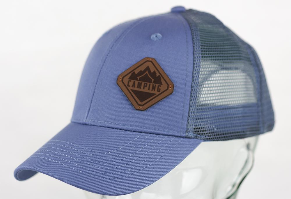 PU LASER BADGE ONTO CAP