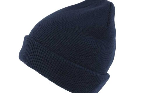 S0004 – 100% Acrylic Knit Beanie with turn-up and fleece lining
