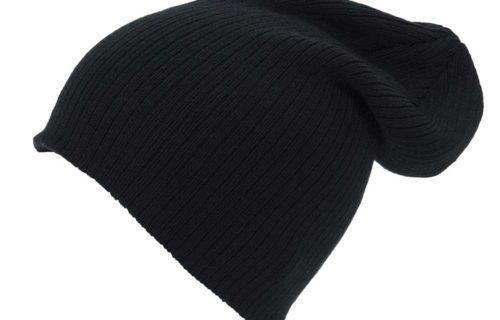 S0007 – 100% Acrylic Ribbed Knit Baggy Beanie
