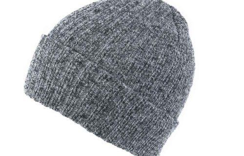 S0009 – 100% Acrylic Ribbed Knit Beanie with Turn-up