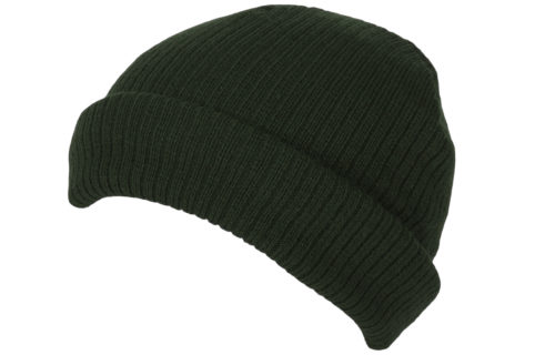 S0013 – 100% Acrylic ribbed knit short fit beanie with turn-up