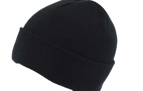 S0016 – 100% Recycled Polyester Knitted Beanie with Turn-up