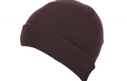 S0020 – 100% Heavy Circular Knit Acrylic beanie with turn-up